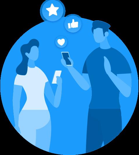 SemSenha.com - redirecionamento para as redes sociais para fidelizar clientes, fazer marketing e vender mais
